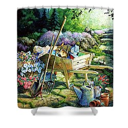 Spring At Last Shower Curtain by Hanne Lore Koehler