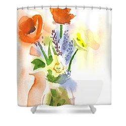 Spring Bouquet II Shower Curtain by Kip DeVore