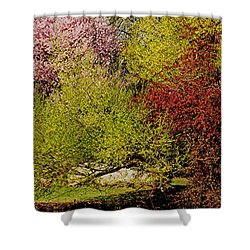 Spring Colors Shower Curtain by Juergen Roth