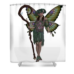 Spring Fairy Shower Curtain by Corey Ford