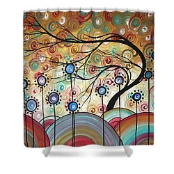 Spring Flowers Original Painting Madart Shower Curtain by Megan Duncanson