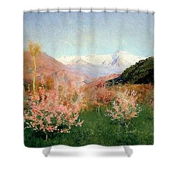 Spring In Italy Shower Curtain by Isaak Ilyich Levitan