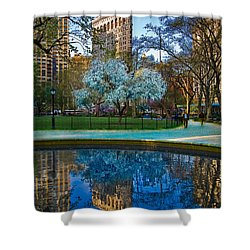 Spring In Madison Square Park Shower Curtain by Chris Lord