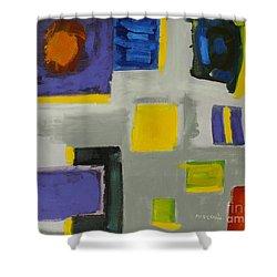 Squares Shower Curtain by Katie OBrien - Printscapes