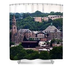 St John The Baptist Church Manayunk Philadelphia Shower Curtain by Bill Cannon
