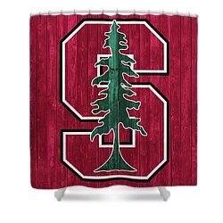 Stanford Barn Door Shower Curtain by Dan Sproul