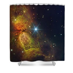 Star Creation Shower Curtain by Paul Van Scott