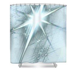 Star Of Wonder Shower Curtain by Ellen Henneke