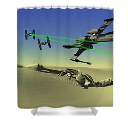 Star Wars Shower Curtain by Michael Greenaway