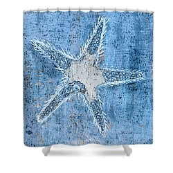 Shower Curtain featuring the painting Starfish by Frank Tschakert