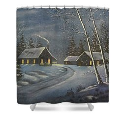 Starry Night Shower Curtain by Terry Boulerice