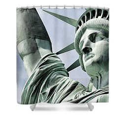 Statue Of Liberty 2 Shower Curtain by Lanjee Chee
