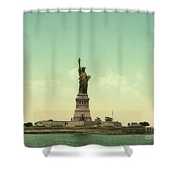 Statue Of Liberty, New York Harbor Shower Curtain by Unknown