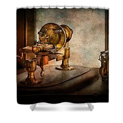 Steampunk - Gear Technology Shower Curtain by Mike Savad