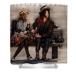 Steampunk - Time Travelers Shower Curtain by Mike Savad