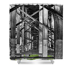 Steel Support Shower Curtain by Rudy Umans