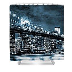 Steely Skyline Shower Curtain by Az Jackson