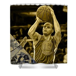 Steph Curry Collection Shower Curtain by Marvin Blaine