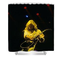 Steve Clark Shower Curtain by Rich Fuscia