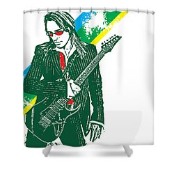 Steve Vai No.02 Shower Curtain by Unknow