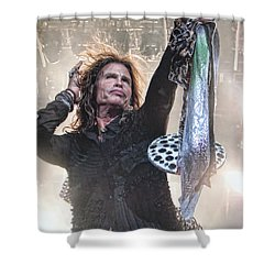 Steven Gives Shower Curtain by Traci Cottingham