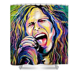 Steven Tyler Shower Curtain by Amy Belonio