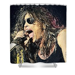 Steven Tyler  Shower Curtain by Taylan Soyturk