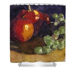Still Apples Shower Curtain by Lynne Reichhart
