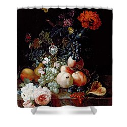 Still Life  Shower Curtain by Johann Amandus Winck