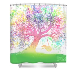 Still More Rainbow Tree Dreams 2 Shower Curtain by Nick Gustafson