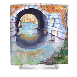 Stone Arch Bridge Dunstable Shower Curtain by Carlin Blahnik