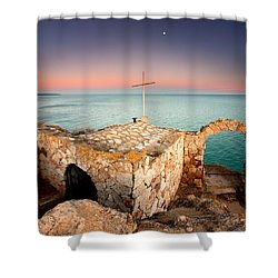 Stone Chapel Shower Curtain by Evgeni Dinev