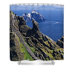 Stone Stairway, Skellig Michael Shower Curtain by Gareth McCormack