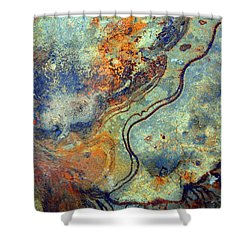 Stone Worlds Shower Curtain by Tara Turner