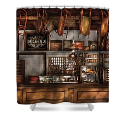 Store - Old Fashioned Super Store Shower Curtain by Mike Savad
