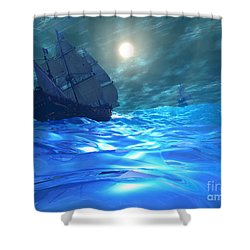 Storm Brewing Shower Curtain by Corey Ford