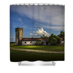 Strawberry County Shower Curtain by Marvin Spates