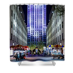 Shower Curtain featuring the photograph Rockefeller Center by M G Whittingham