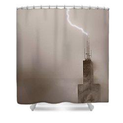 Strike Shower Curtain by Steve Gadomski