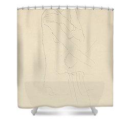Study For Adele Bloch Bauer II Shower Curtain by Gustav Klimt
