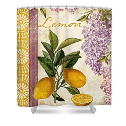 Summer Citrus Lemon Shower Curtain by Mindy Sommers