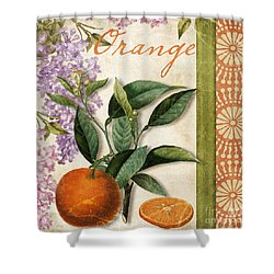 Summer Citrus Orange Shower Curtain by Mindy Sommers