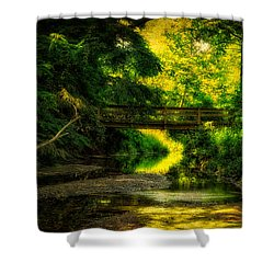 Summer Creek Shower Curtain by Thomas Woolworth
