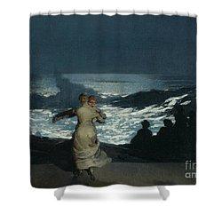 Summer Night Shower Curtain by Winslow Homer