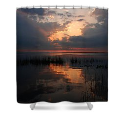Sun Behind The Clouds Shower Curtain by Susanne Van Hulst