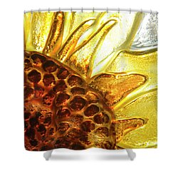 Sunburst Sunflower Shower Curtain by Jerry McElroy