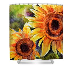 Sunflowers 2 Shower Curtain by Susan Jenkins