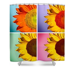 Sunflowers Collage Shower Curtain by Mark Ashkenazi