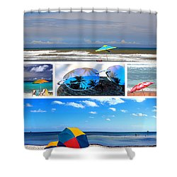 Sunglasses Needed In Paradise Shower Curtain by Susanne Van Hulst