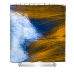 Sunlight On Flowing River Shower Curtain by Bill Brennan - Printscapes